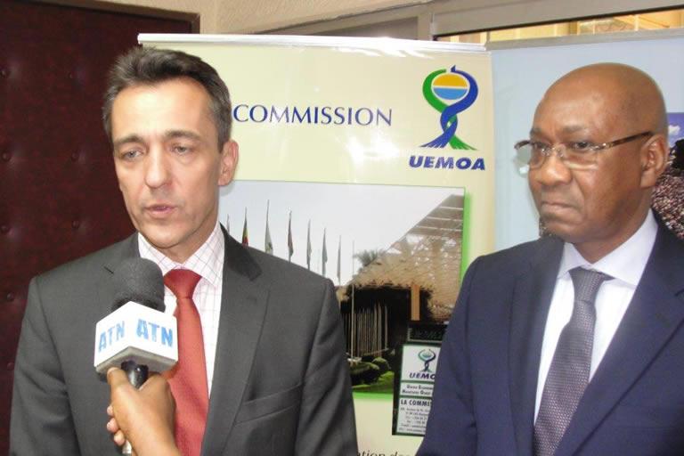 Le Président de la Commission de l'UEMOA et l'Ambassadeur de la France au Burkina