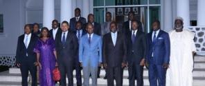Photo de famille avec le PM de Côte d'Ivoire
