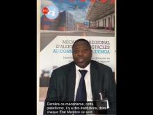 M. SEGBO sur le Mécanisme d'Alerte aux Obstacles au Commerce de l'UEMOA