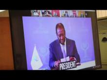 Session extraordinaire de Chefs d'Etat et de Gouvernement de l'UEMOA, 27 avril 2020 par visioconférence.