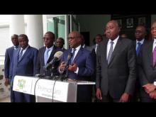 EDITION 2018 DE LA REVUE ANNUELLE :   Réactions du Président de la Commission de l'UEMOA Monsieur Abdallah BOUREIMA devant la presse le 31  janvier 2019 à Abidjan