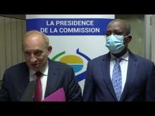 Présentation des lettres de créance de l'Ambassadeur de France au Burkina Faso, à la Commission