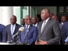 EDITION 2018 DE LA REVUE ANNUELLE :  Réactions du Premier Ministre de la République de Côte d'Ivoire Monsieur Amadou Gon COULIBALY devant la presse le 31  janvier 2019 à Abidjan