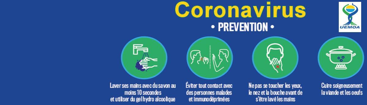 Lutte contre la pandémie du coronavirus (COVID 19) : la Commission de l'UEMOA prend d'importantes dispositions.