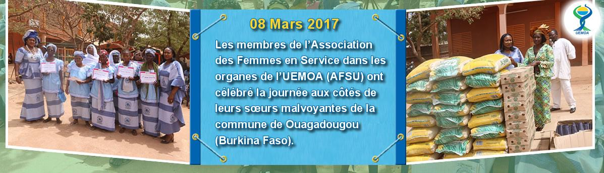 Célébration du 8 mars : Célébration du 8 mars : l'AFSU solidaire avec les femmes de l'ABPAM du Burkina.