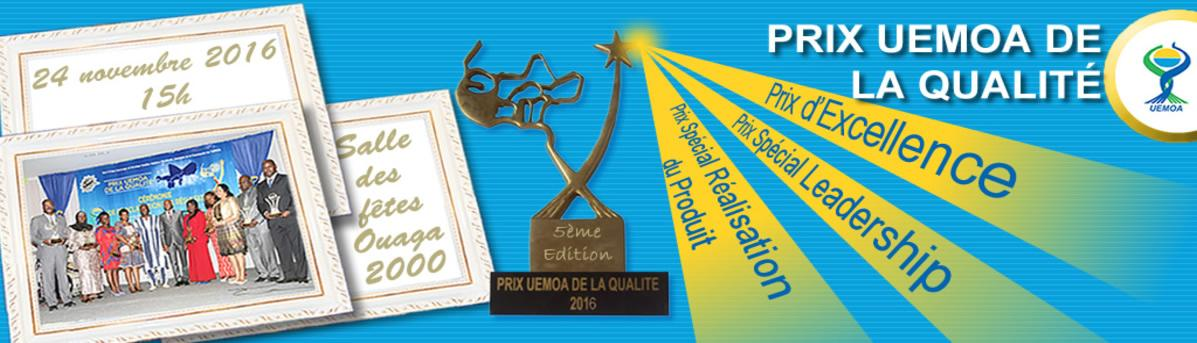 5ème édition du Prix UEMOA de la Qualité: RÉSULTATS proclamés.